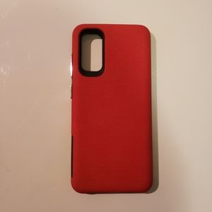 Samsung galaxy S20 case red and black grippy